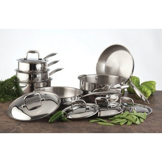 Paderno Epicurean 11-Piece Stainless Steel Cookware Set