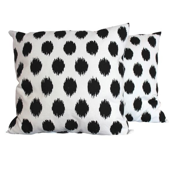 Jo-Jo Black and White Throw Pillows (Set of 2)