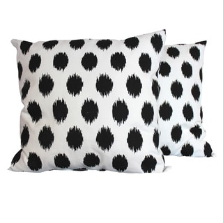 Jo-Jo Black and White Throw Pillows (Set of 2)