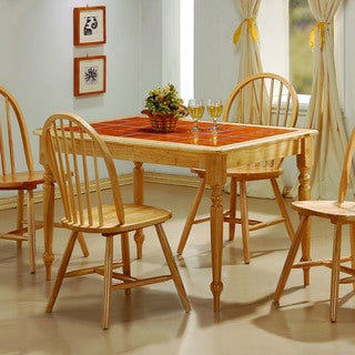 Coaster Wood and Tile Dining Table