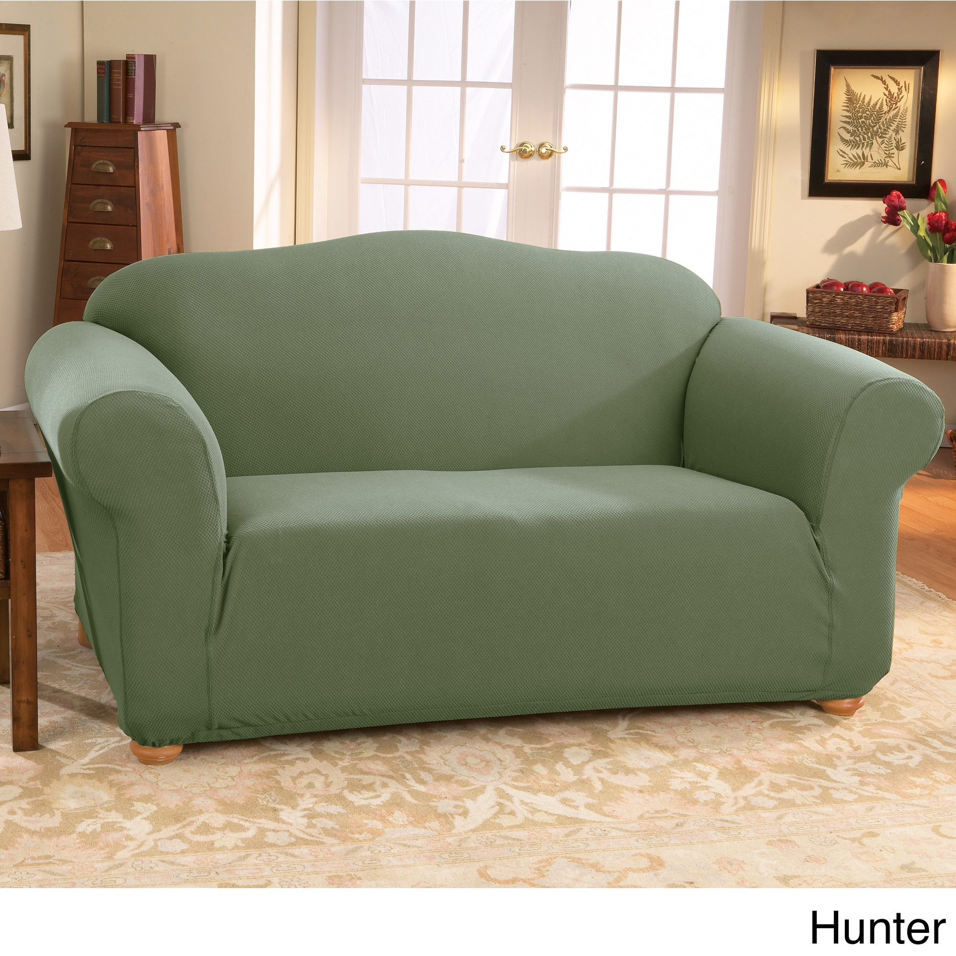 Sure Fit Stretch Honeycomb Sofa Slipcover Overstock