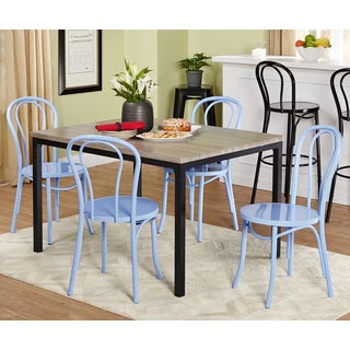 Simple Living Vintage Inspire Grey/ Blue 5-piece Dining Set