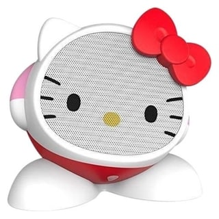 Hello Kitty iHome Character Speaker with Built-In Rechargeable Battery and Size Defying Sound