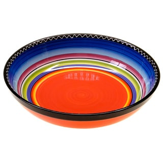 Hand-painted Tequila Sunrise 13-inch Ceramic Serving Bowl