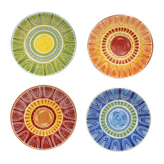 Certified International Hand-painted Tapas Dinner Plates (Set of 4)