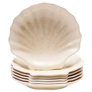 Certified International Coastal Moonlight Shell Melamine Plate (Set of 6)