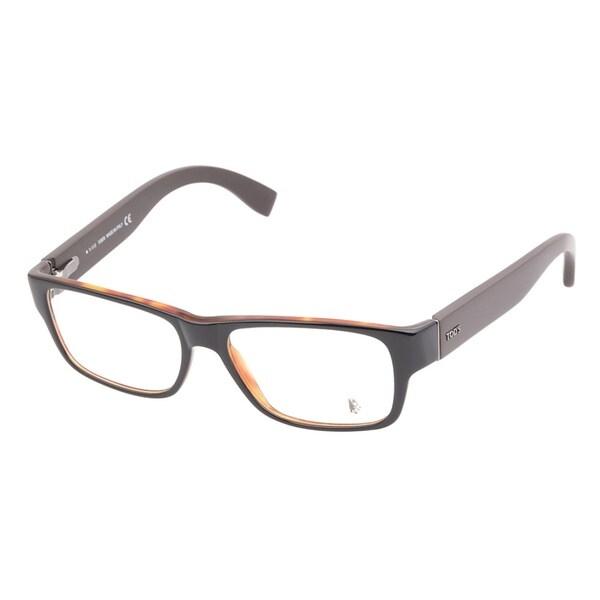 Tods 5069 005 Black Havana Prescription Eyeglasses