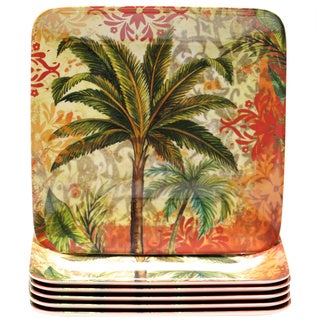 Certified International Sunset Palm 8.5-inch Melamine Salad Plate (Set of 6)