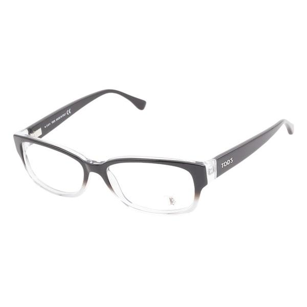 Tods 5037 005 Black Crystal Prescription Eyeglasses