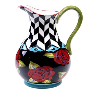 Hand-painted Classic Rose 3.25-quart Ceramic Pitcher
