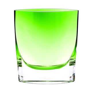 Badash Samantha Glass Spring Green Vase