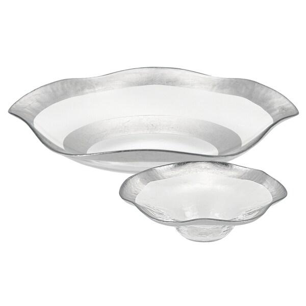 Badash Wave Silver 2-piece Serving Bowl Set