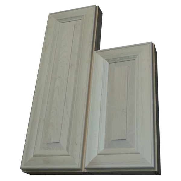 Andrew Series 29 and 34-inch Double Offset On the Wall Natural Cabinet 2.5-inch Deep Right Hand