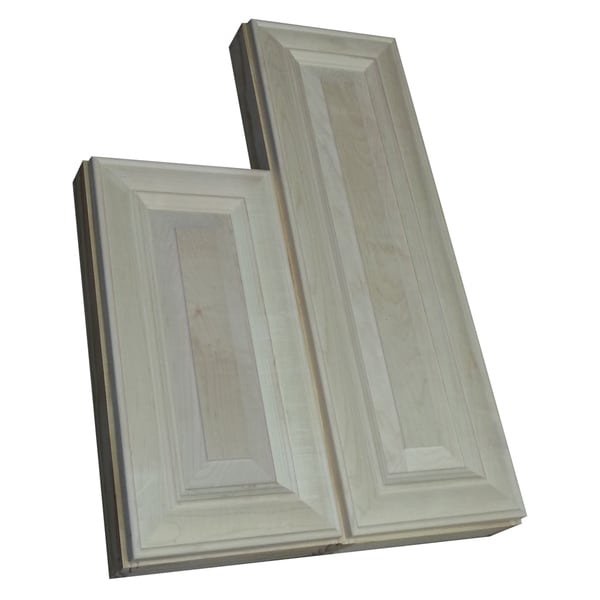 Andrew Series 29 and 34-inch Double Offset On the Wall Cabinet 3.5-inch Deep Left Hand