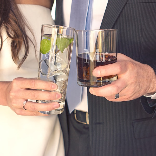 Mr. & Mrs. Two-piece Cocktail Set