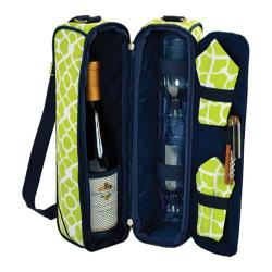 Picnic at Ascot Deluxe Wine Carrier for Two Trellis Green