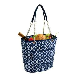 Picnic at Ascot Insulated Cooler Tote Trellis Blue