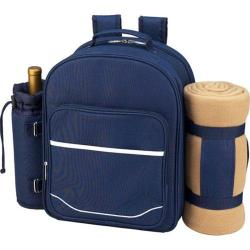 Picnic at Ascot Picnic Backpack for Four with Blanket Trellis Blue