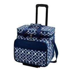 Picnic at Ascot Picnic Cooler for Four/Wheeled Cart Trellis Blue