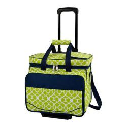 Picnic at Ascot Picnic Cooler for Four/Wheeled Cart Trellis Green