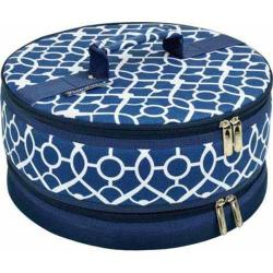 Picnic at Ascot Pie/Cake Carrier Trellis Blue