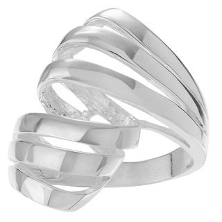 Journee Collection Sterling Silver Freeform Ring