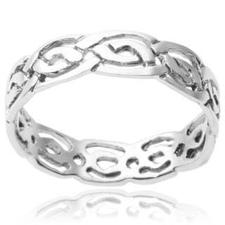 Journee Collection Sterling Silver Band