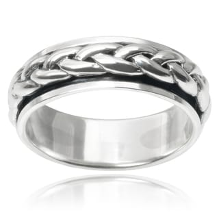 Vance Co. Sterling Silver Braid Spinner Band