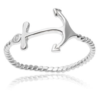 Tressa Collection Sterling Silver Anchor Ring