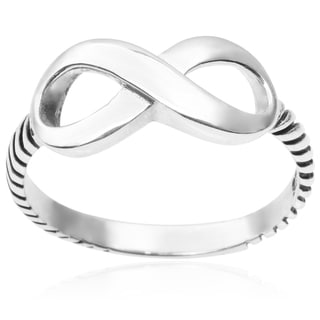 Tressa Collection Sterling Silver Infinity Ring