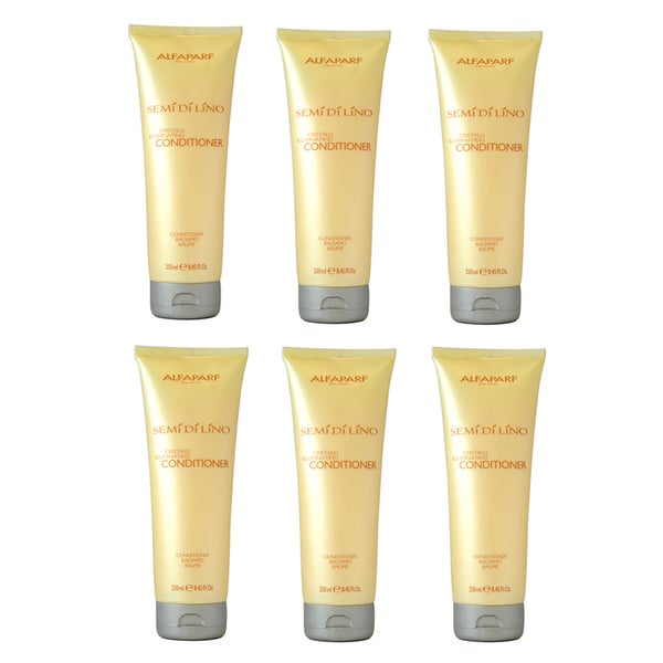 Alfaparf Milano Semi Di Lino Cristalli Illuminating 8.45-ounce Conditioner (Pack of 6)
