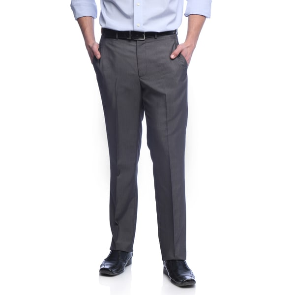 Kenneth Cole Reaction Men's Slim Fit Grey Bankers Stripe Suit Separate Pants