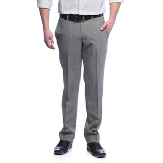Kenneth Cole New York Men's Slim Fit Light Grey Wool Blend Pants
