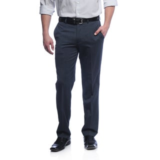 Kenneth Cole New York Men's Slim Fit Blue Wool Blend Pants