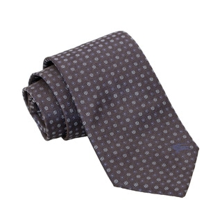 Burberry Navy and Blue Dotted Silk Tie