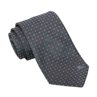 Burberry Charcoal and Teal Dotted Silk Tie