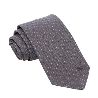 Burberry Grey Silk Patterned Tie