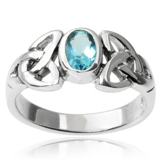 Tressa Collection Sterling Silver Cubic Zirconia Celtic Ring