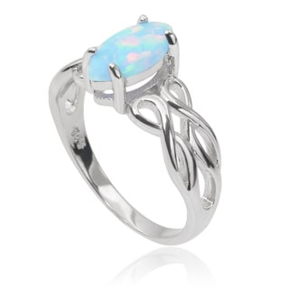 Tressa Collection Sterling Silver Gemstone Celtic Design Ring