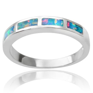 Tressa Collection Sterling Silver Genuine Opal Ring