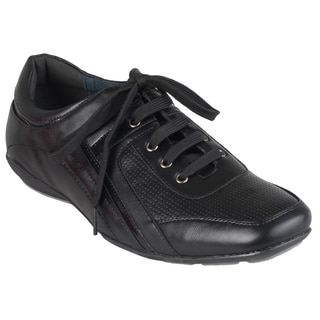 Boston Traveler Men's Black Square Toe Lace-up Shoes