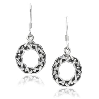 Tressa Collection Sterling Silver Celtic Drop Earrings