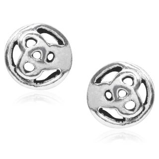 Journee Collection Sterling Silver Celtic Stud Earrings