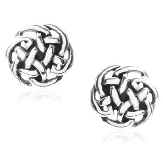 Tressa Collection Sterling Silver Celtic Stud Earrings