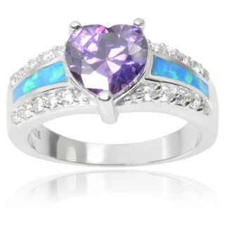 Journee Collection Sterling Silver Cubic Zirconia Heart Ring
