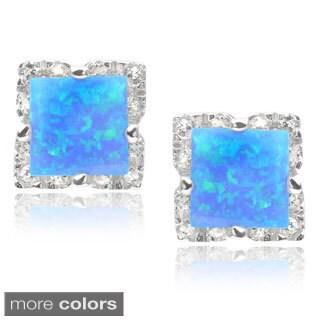 Journee Collection Sterling Silver Cubic Zirconia Gemstone Stud Earrings