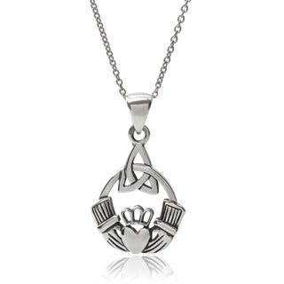 Tressa Collection Sterling Silver Claddagh Pendant