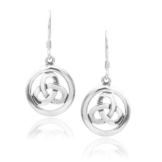Journee Collection Sterling Silver Celtic Drop Earrings