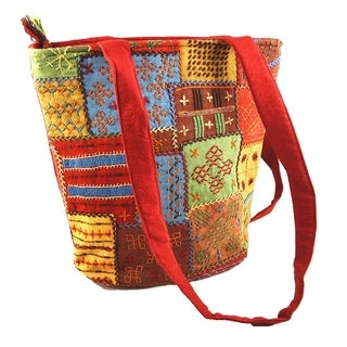 Fair Trade Multi-colored Needlework Shoulder Bag (India)