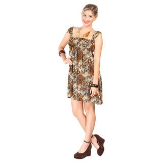 Women's Animal Print Knee-length Dress (Indonesia)